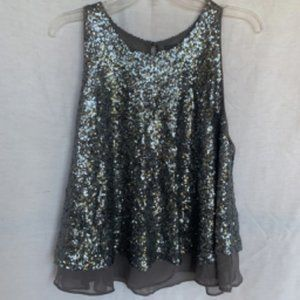 Anthropologie Sunday in Brooklyn Gray Sequin Top